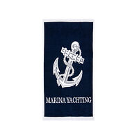Anchor Beach Towel, 100% Cotton Soft Absorbent Turkish Bath Towel