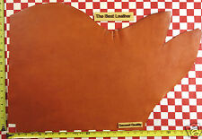 """Authentic Horween Bold Orange Essex 4-5 oz Leather Hide 27""""x18"""" Logo 2Nd Quality"""