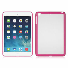 For Apple iPad Mini Retina Display Candy Hard Shell Case trim w/Clear - Hot Pink