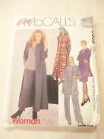 Vintage 1999 Sewing Pattern Duster-Jacket- Dress-Top & Pants Size 26-28-50 Uncut