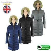 WINTER WARM THICK JACKET NEW WOMENS, LADIES PARKA BELT HOODED PUFFER JACKET COAT