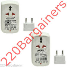 2-PACK 100W Watt 110 to 220 Volt Travel Voltage Converter 110V 220V Transformer
