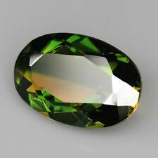 9.4Ct Man Made Bi Color Glass Yellow Green Oval Cut MQYG35