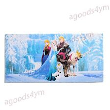 Cute Frozen Bathroom Towel Princess Anna Elsa Olaf Kristoff Sven Beach Towel