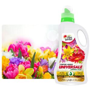 Concime Liquido Fertilizzante NPK Universale per Fiori Orto Giardino 1 Lt