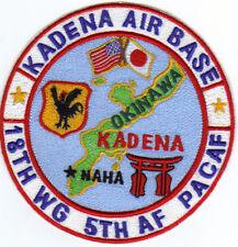 USAF AFB PATCH, KADENA AIRBASE JAPAN, 18TH WG, 5TH AF, PACAF