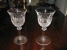 Two 2  St Saint Louis TOMMY Burgundy Wine Goblets $$$$$$