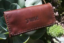 LEATHER TOBACCO POUCH-PERSONALISED EMBOSSING AVAILABLE-UNIQUE FONT-MADDOG  HIDE