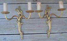 -Appliques anciennes en Bronze doré de style Louis XV
