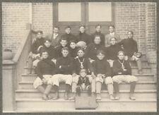 FOOTBALL TEAM PHOENIX ARIZONA HIGH SCHOOL 1901 ANTIQUE PHOTO NOSE GUARD MASCOT
