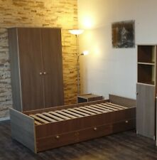 Jugendzimmer Kinderzimmer komplett Set  Schrank Jugendbett Regal Braun CAFE