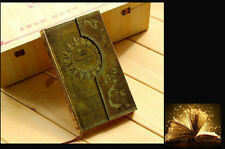 "Gold ""Pharaoh"" Hard Cover Vintage Pocket NoteBook Diary Planner Journal Memo NEW"