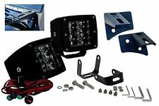 Jeep wrangler plug & play LED POD kit cube harness pillar mount Black Flood jk