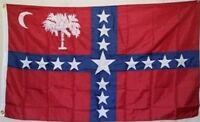 South Carolina Sovereignty CSA Secession Flag Civil War 3x5 ft Print Polyester
