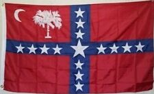3x5 ft South Carolina Sovereignty CSA Civil War Flag Print Polyester Material