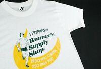 Vintage 80s 250 Mile Run T Shirt Marathon Race Single Stitch Nike Mens