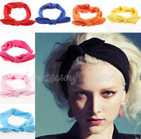 5pcs Fashion Womens Rabbit Ear Bandanas Headband Hair band Headwrap Accessories