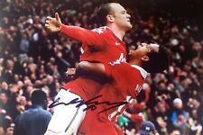Wayne Rooney Firmado Manchester United objetivo celebración de 16 X 12 Foto cert. de autenticidad £ 45