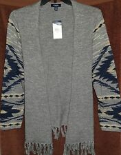 RALPH LAUREN Southwestern NAVAJO BLANKET KNIT Open Duster 2X 20W 22W New TAGS