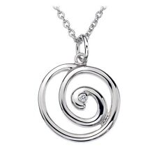 DP371 NEW Genuine Hot Diamonds Sterling Silver Eternity Spiral Necklace £79.95