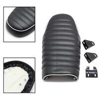 Black Flat Brat Hump Cafe Racer Seat Vintage Saddle For Honda CB600 CRF 450 500