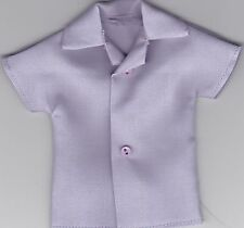Homemade Doll Clothes-Pretty Solid Lavender Shirt that fits Ken Doll B2