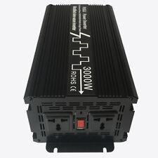 Onda sinusoidal modificada inversor solar de 3000 W 12V/24V a 120V/220V Convertidor de corriente