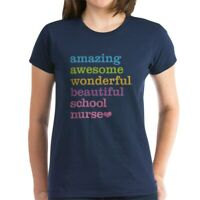 CafePress Amazing School Nurse T Shirt Women's Cotton T-Shirt (1646066021)