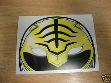 "White Power Ranger  - window  ""peeper""  decal -  jdm / sticker bomb"
