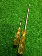 Lot Of 2 Vintage Irwin Usa Screwdriver Set Slotted 400 4 And Philip 4000 8