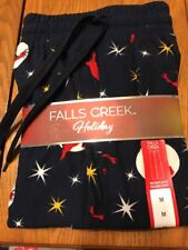 Falls Creek Holiday SLEEP PANT SIZE M Black 100% Polyester Ships N 24h