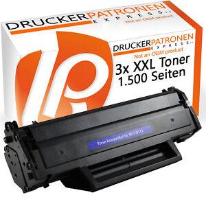 3 XXL Toner Compatible pour Samsung MLT-D111S Xpress M2020 M2022 M2026W M2070FW