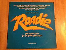 ROADIE FILM SOUNDTRACK RADIO SPECIAL RARE OOP LP VG++ VINYL ALICE COOPER BLONDIE
