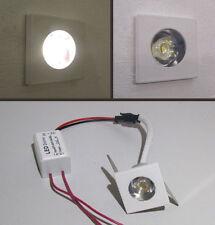 SEGNA PASSO QUADRATO - MINI SPOT LED - BIANCO per uso interno da 1 W