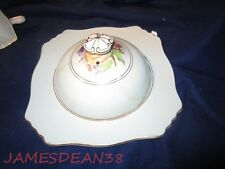 ROYAL WINTON GRIMWADES FRUIT PEACHES GRAPES COVERED TOAST DISH AS IS