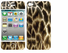 COQUE  iphone 4 EN RESINE 3D STICKERS REPOSITIONNABLE GIRAFE N° 52