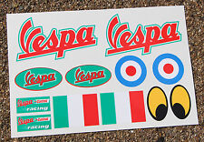VESPA SCOOTER style sticker decal set Italian Flag Piaggio