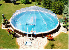 18' Round 12 Panel Above Ground Pool Dome- Atlantic, Swim n Play Esther Williams