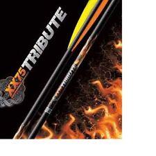 """Easton Archery Aluminium Tribute Arrows X 6 Black Recurve Compound Various Spine 1916 - 31"""" Long"""