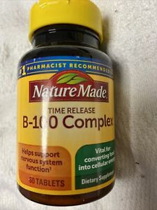 Nature Made Balanced B-100 Complex Timed Release Vitamin 60 Tablets
