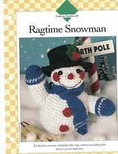 "Ragtime Snowman 14"" Doll Crochet Single Pattern Vanna White"