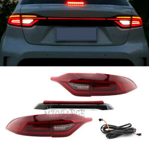 For Toyota Corolla 2020-2021 LED Tail lights Assembly Red Lens Brake Rear Lamps