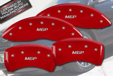 "2009-2017 Chevy Traverse Front + Rear Red ""MGP"" Brake Disc Caliper Covers 4p Set"