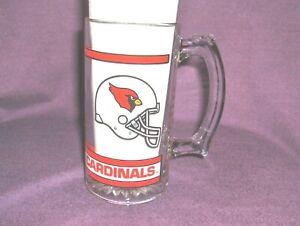 #532 - ARIZONA CARDINALS NFL FOOTBALL GLASS MUG, CUP - HELMET LOGO