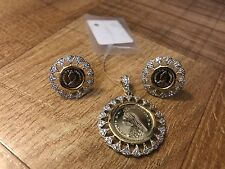 Indian Pakistani Ethnic Jewelry Gold Plated Victoria Coin Necklace Pendant Set