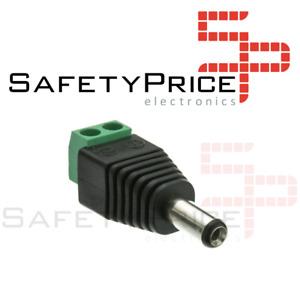 Conector Jack 2.1x5.5mm alimentación Macho DC CCTV LED ARDUINO REF512