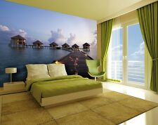 Wall mural giant size Holiday resort pier view wallpaper - office living room