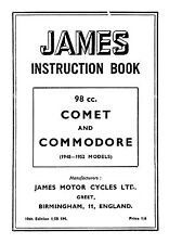 (0629) 1948-1952 James Comet & Commodore instruction book