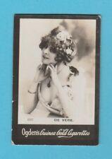ACTRESS  -  OGDENS  GUINEA  CARD  -  NO. 610  -  DE  VERE  -  1901