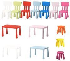 IKEA MAMMUT Kinder Tisch Stuhl Hocker Set in/out Garten Wohnen Kinderhocker